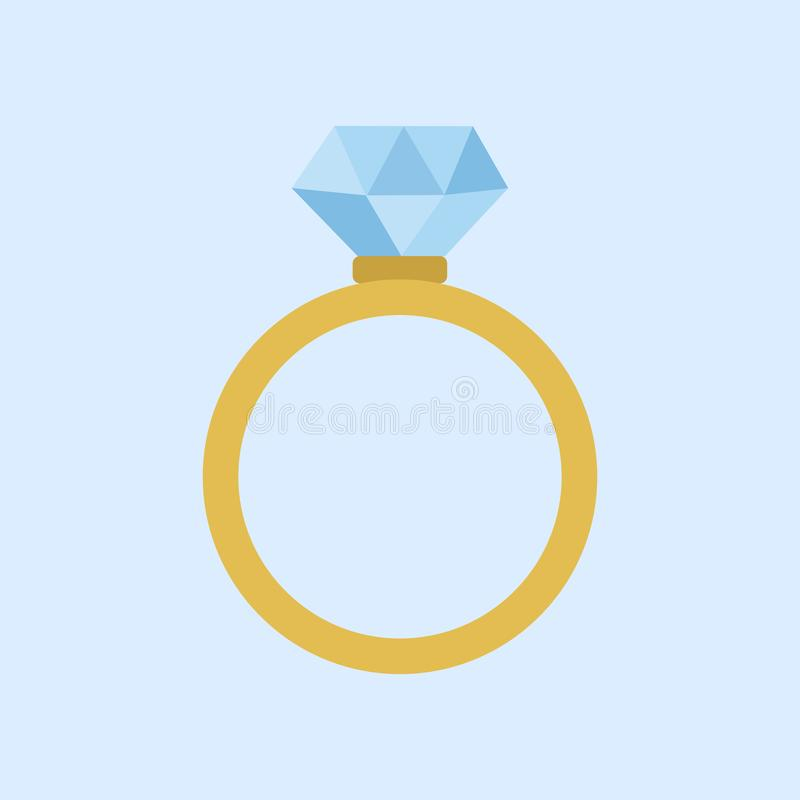 Hochzeit Diamond Ring Vector Illustration Graphic stock abbildung