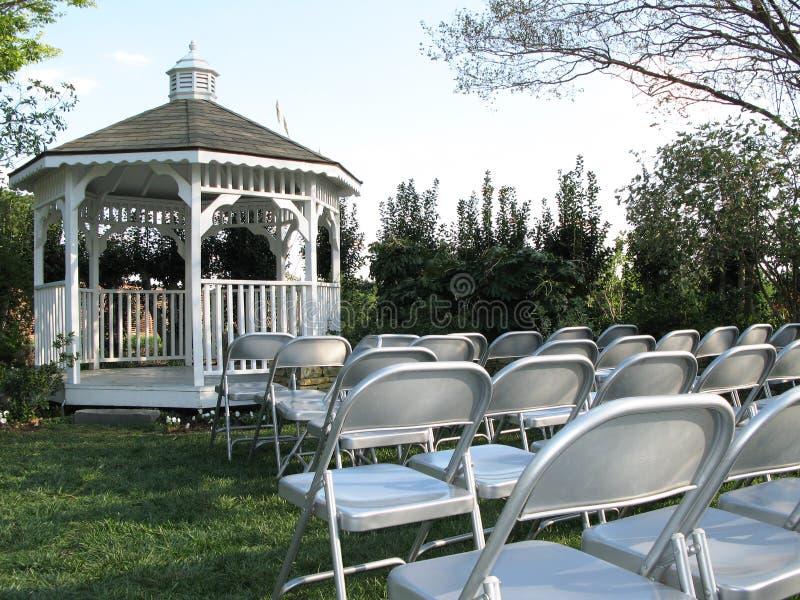 Hochzeit Gazebo lizenzfreie stockfotos