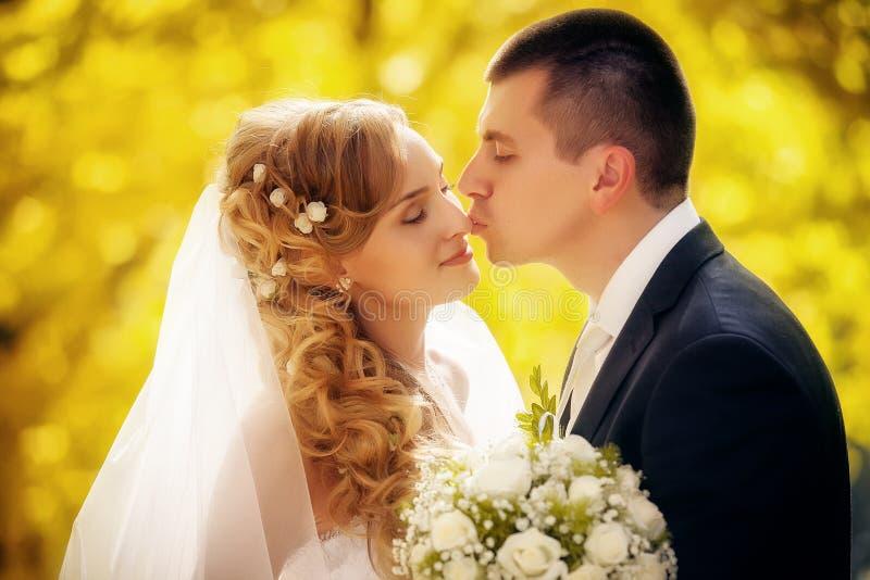 Hochzeit geschossen von der Braut und vom Bräutigam lizenzfreies stockfoto