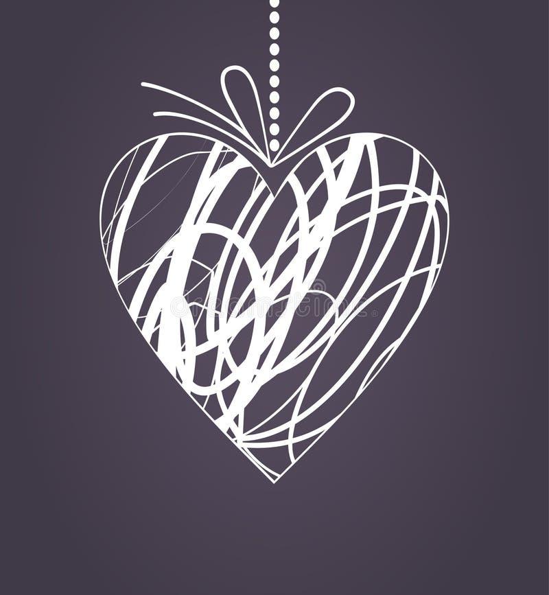 Hochzeit heart2 stock abbildung