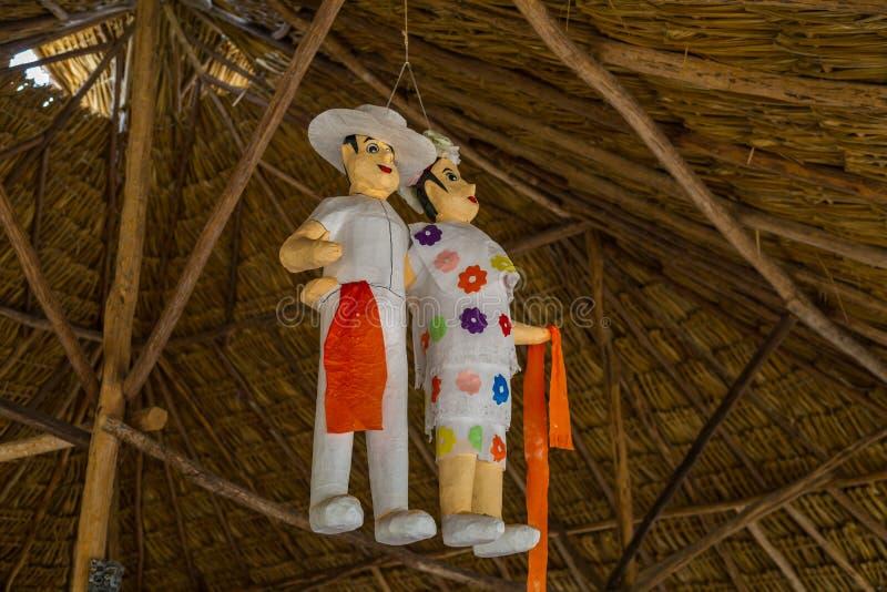 Hochzeit Piñata stockbild