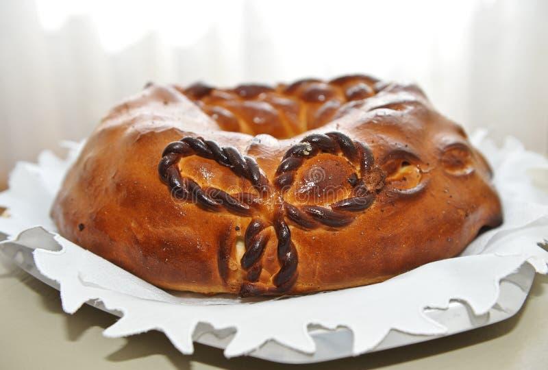 Hochzeit ponge Kuchen verzierte stockfoto