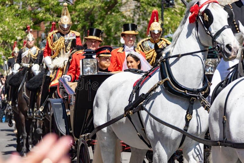 Hochzeit Prinzen Harry und Meghan Markles lizenzfreie stockbilder