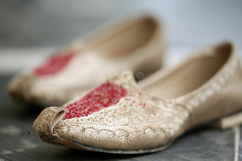 Hochzeit Punjabischuhe lizenzfreies stockfoto