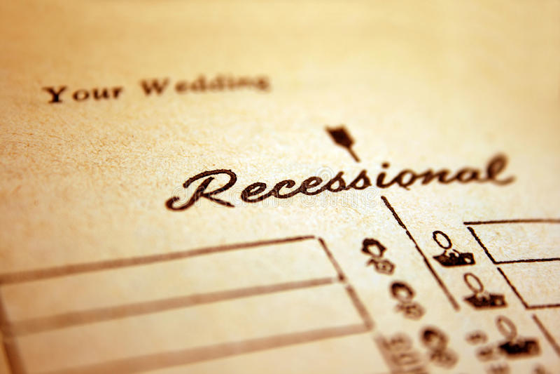 Hochzeit Recessional stockfoto