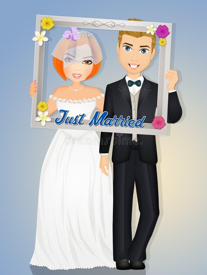Hochzeit selfie Rahmen stock abbildung. Illustration von fall ...