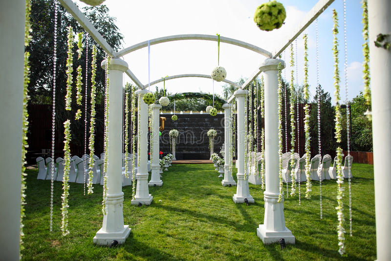 Hochzeit Szene im Freien lizenzfreies stockfoto