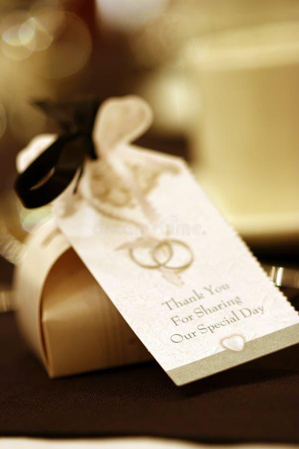 Hochzeits-Bevorzugung lizenzfreie stockbilder