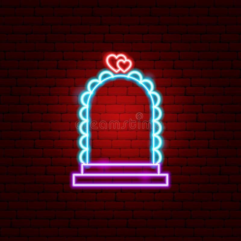 Hochzeits-Bogen-Leuchtreklame vektor abbildung