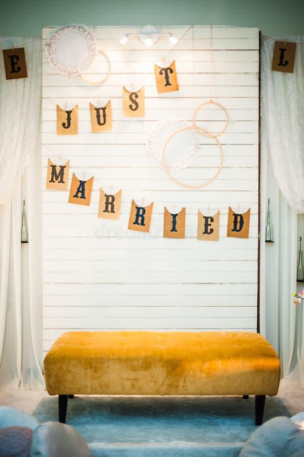 Hochzeits-Dekoration stockfotos