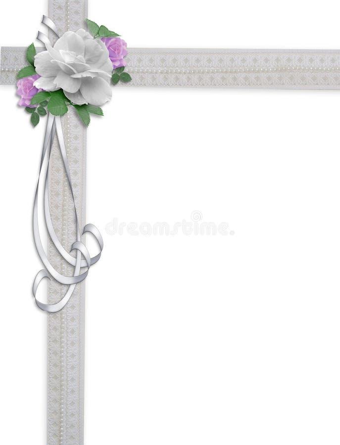 Hochzeits-Einladungs-Blumenrand stock abbildung