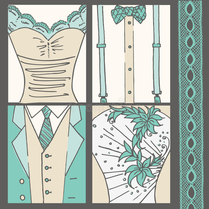 Hochzeits-Einladungs-Karte lizenzfreie abbildung