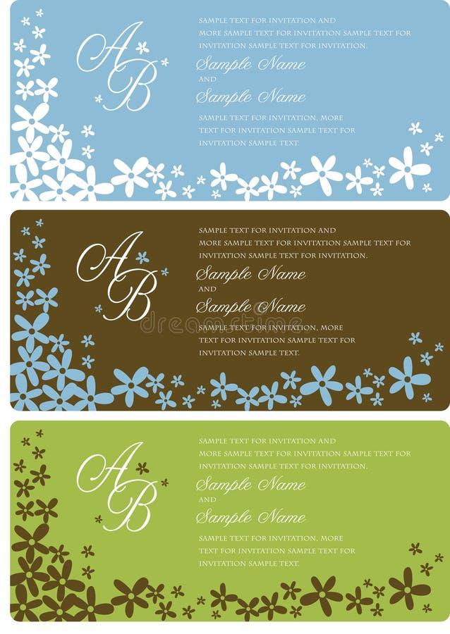 Hochzeits-Einladungs-Panels vektor abbildung
