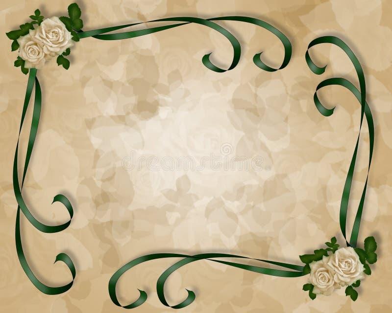 Hochzeits-Einladungs-Schablone Stock Abbildung - Illustration von ...