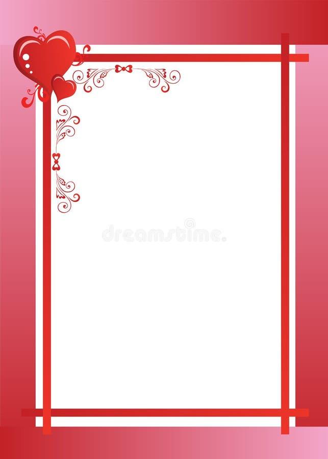 Hochzeits-Einladungsrahmen vektor abbildung