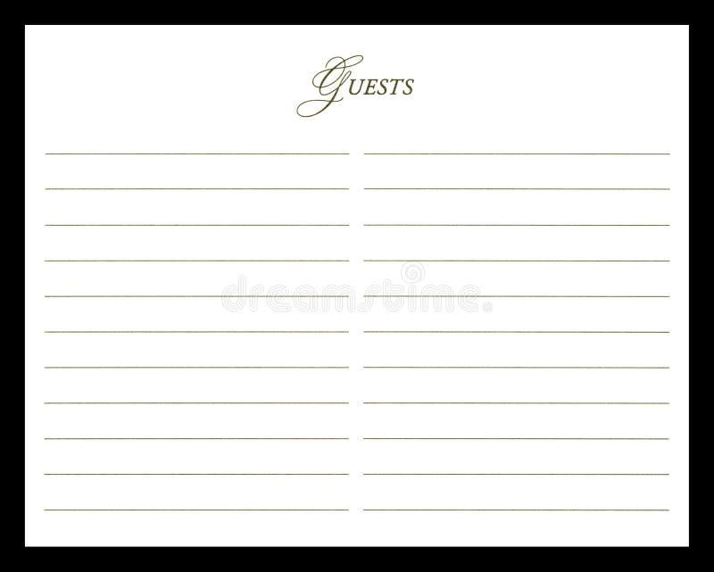 Hochzeits-Gast-Buch lizenzfreie stockfotografie