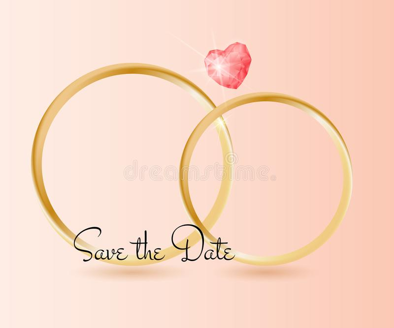 Download Hochzeits-Hintergrund Mit Ringen Und Edelstein, Zitatbeschriftung Abwehr Das Datum Stock Abbildung - Illustration von verpflichtung, ehemann: 106802418
