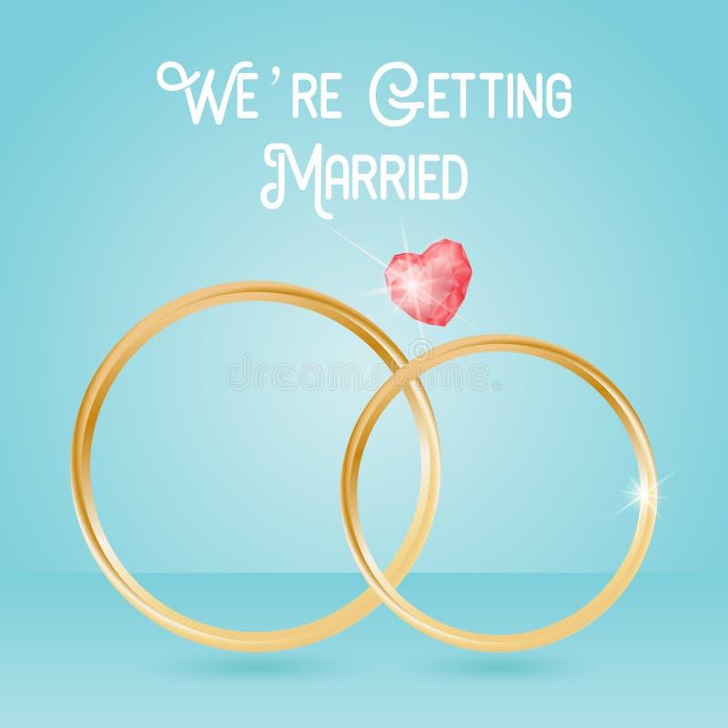Download Hochzeits-Hintergrund Mit Ringen Und Edelstein, Zitatbeschriftung, Die Wir Heiraten Stock Abbildung - Illustration von zeremonie, braut: 106802483