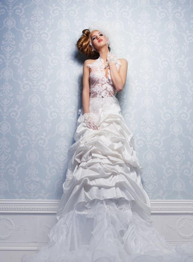 Hochzeits-Kleid stockfotos