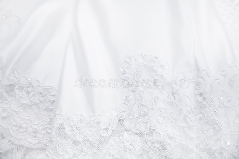 Hochzeits-Kleid stockbild