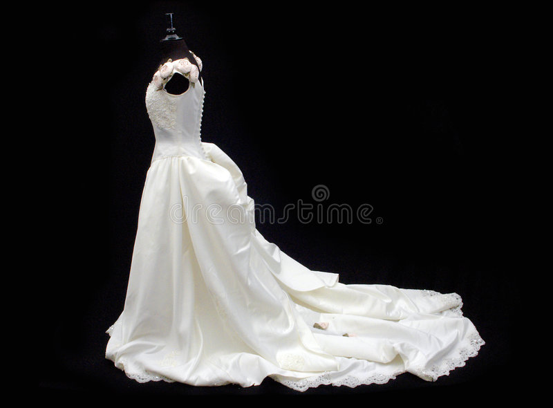 Hochzeits-Kleid oder Kleid lizenzfreies stockbild