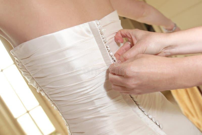 Hochzeits-Kleid-Tasten lizenzfreie stockfotografie