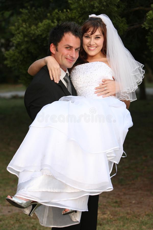 Hochzeits-Paar-Spaß stockbild