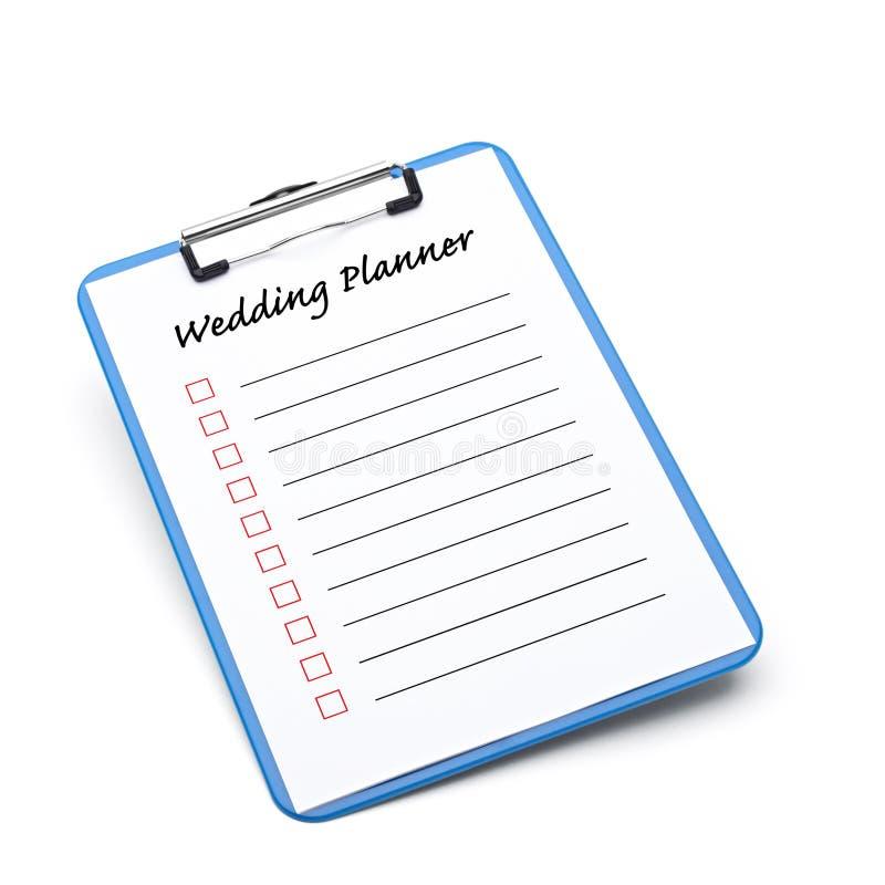 Hochzeits-Planer stockfotos