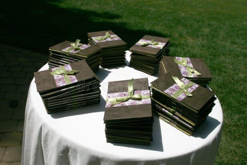 Hochzeits-Programme lizenzfreie stockfotos