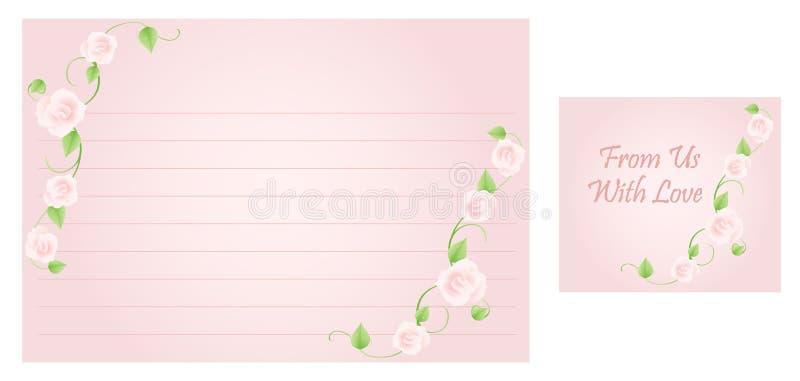 Hochzeits-Rezept-Karte vektor abbildung. Illustration von ...