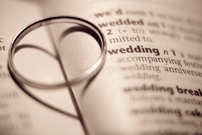 Hochzeits-Ring lizenzfreie stockbilder