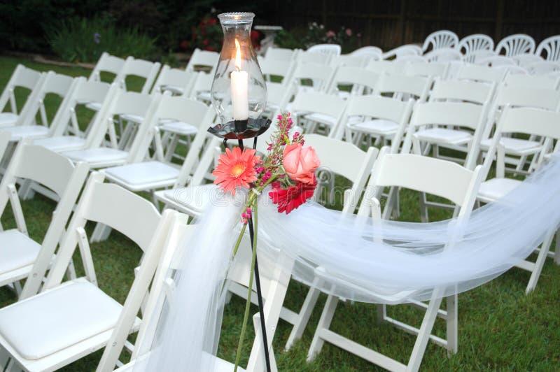 Hochzeits-Sitze lizenzfreie stockfotos