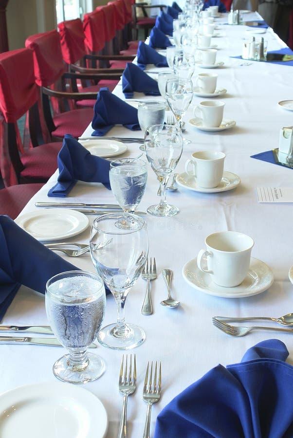 Hochzeits-Tabelle stockfotos