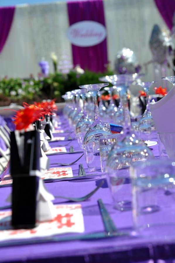 Hochzeits-Tabellen-Detail lizenzfreies stockfoto
