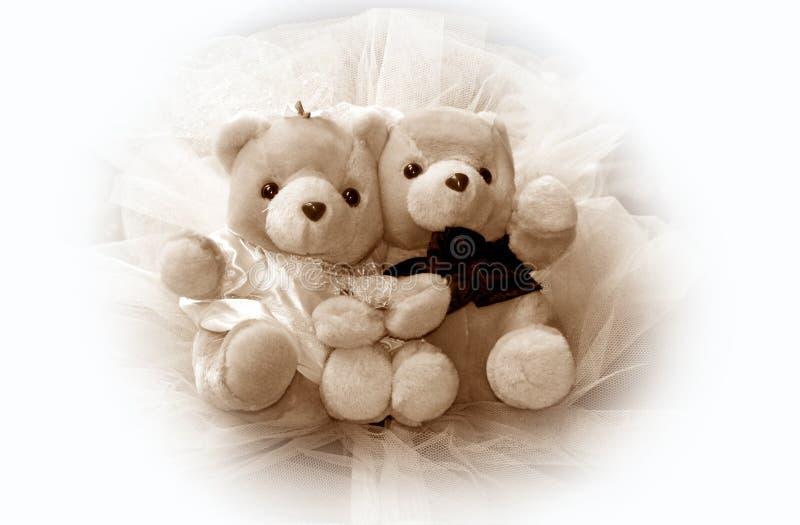 Hochzeits-Teddybären lizenzfreies stockfoto
