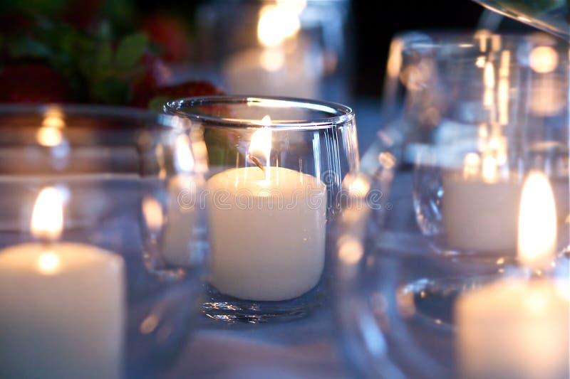 Hochzeits-Tee-Leuchten stockfotografie