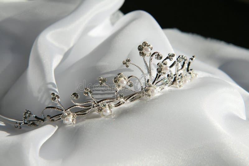 Hochzeits-Tiara stockbild