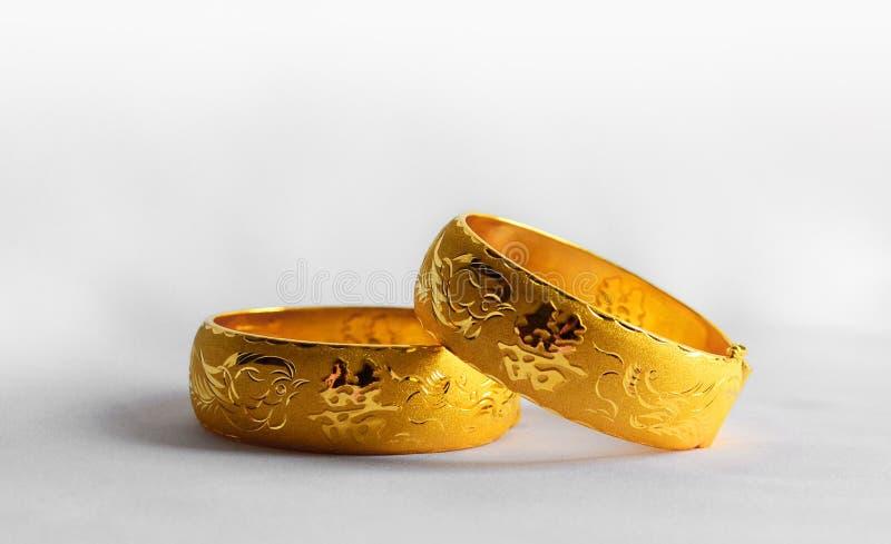 Hochzeitsarmbänder des traditionellen Chinesen lizenzfreie stockfotos