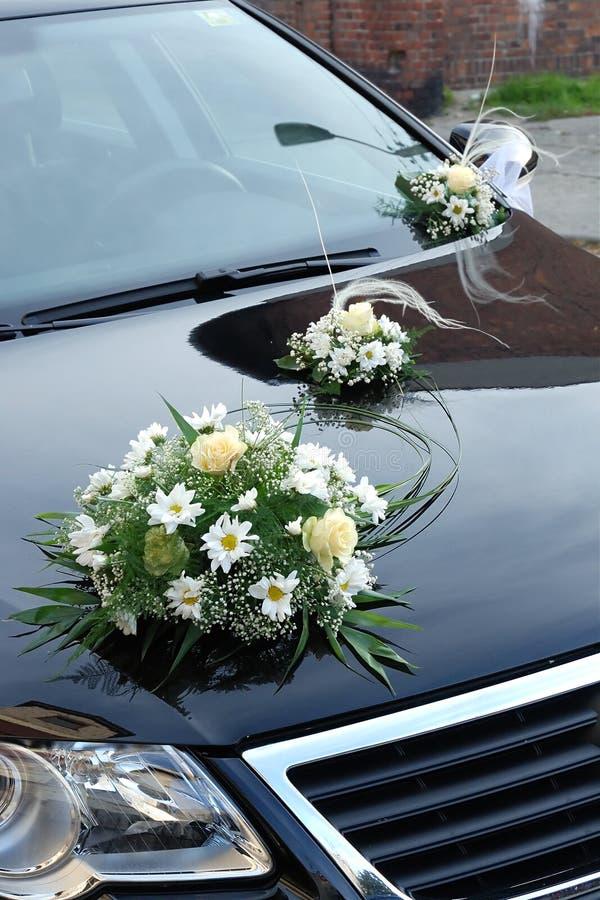 Hochzeitsauto stockbilder