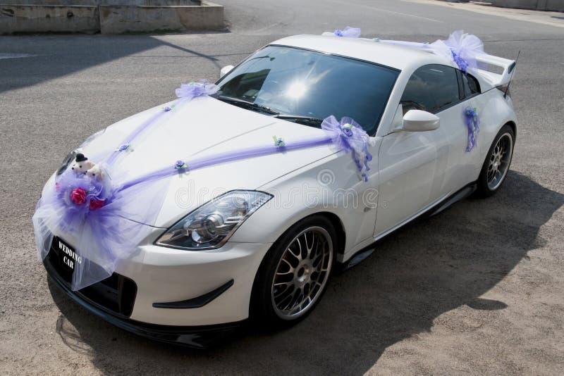 Hochzeitsauto stockfotografie