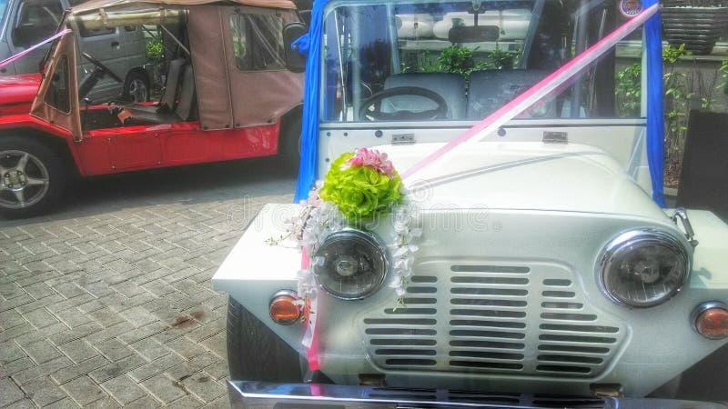 Hochzeitsautos stockfotos