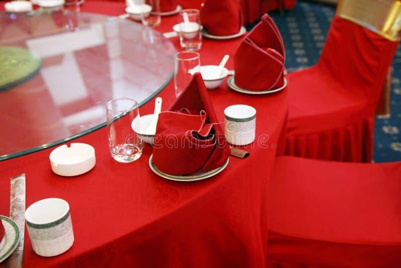 Hochzeitsbanketttabelleneinstellung stockbild