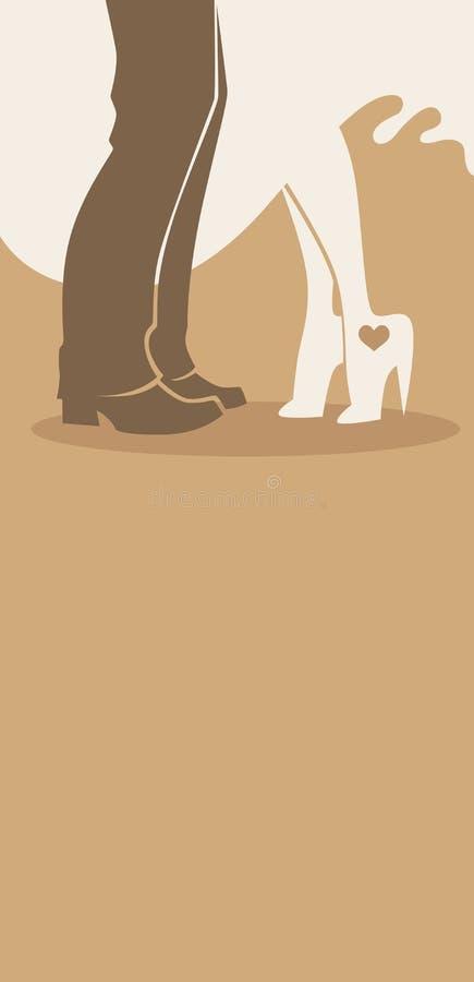 Hochzeitsbeine lizenzfreie abbildung