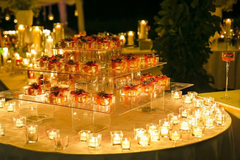 Hochzeitsbevorzugungen stockbild