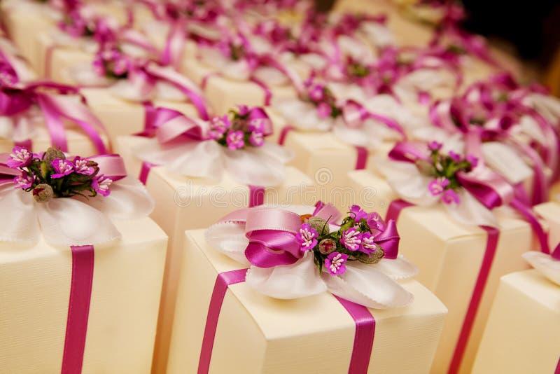 Hochzeitsbevorzugungen stockfotografie
