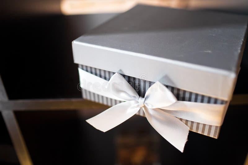 Hochzeitsbevorzugungskasten lizenzfreies stockbild