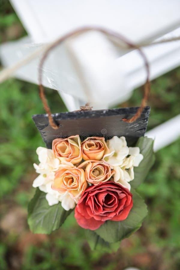 Hochzeitsblumendekoration stockbilder
