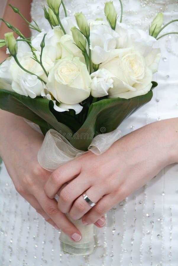 Hochzeitsblumenstrauß lizenzfreie stockbilder