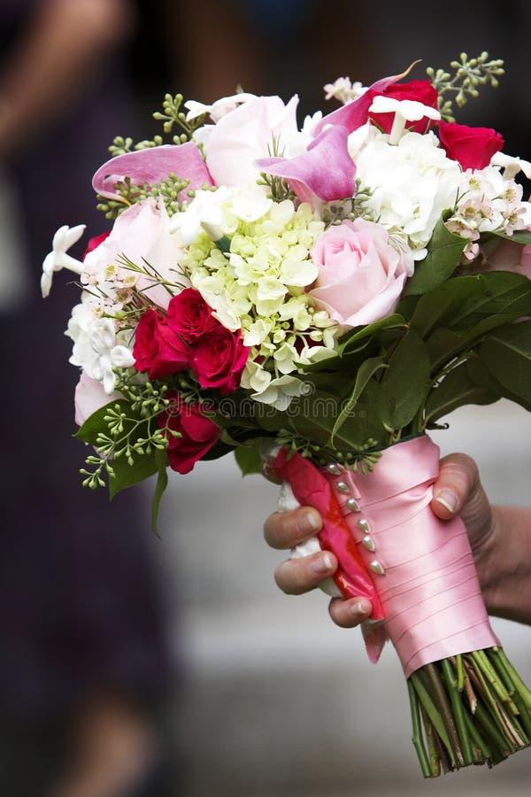 Hochzeitsblumenstrauß der Blumen stockfotografie