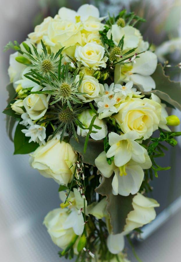 Hochzeitsblumenstrauß für die Braut stockfoto